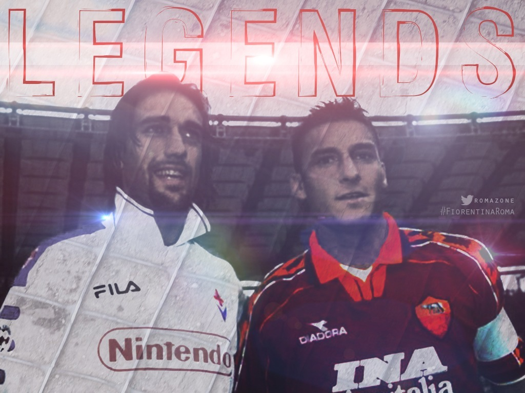 batistuta totti legends